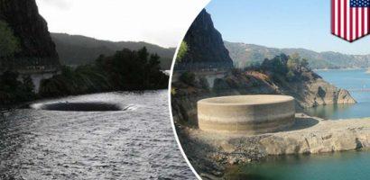 Hố địa ngục xuất hiện trên hồ ở California