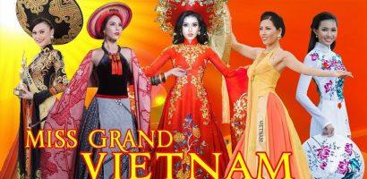 5 đại diện Việt Nam trình diễn quốc phục trên sân khấu Miss Grand International