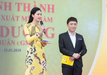 Trấn Thành 'bối rối' khi đứng cạnh Á hậu Thanh Tú