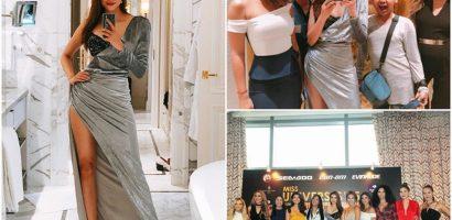 Phạm Hương bị che mờ vòng 1 trên truyền hình Indonesia vì váy gợi cảm