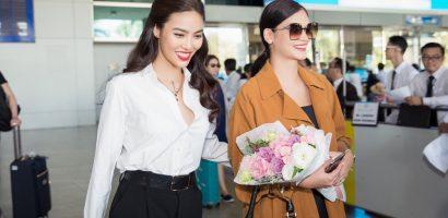 Lan Khuê ra sân bay đón Hoa hậu hoàn vũ 2015 – Pia Wurtzbach