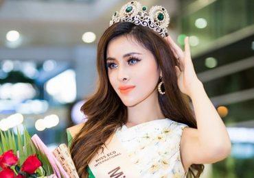 Thư Dung về nước sau khi đoạt giải Á hậu 2 tại 'Miss Eco International 2018'