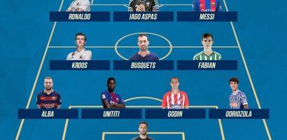 Đội hình tiêu biểu La Liga 2017/18: Messi lĩnh xướng hàng công