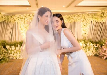 Hoa hậu Kỳ Duyên làm phù dâu cho Diệp Lâm Anh