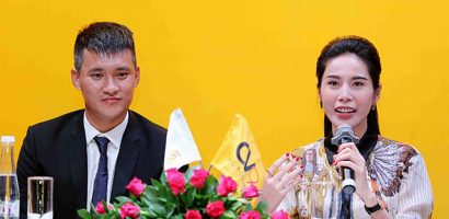 Thuỷ Tiên mặc set trang phục hơn một tỷ đồng sánh vai chồng