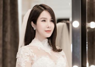 Cận cảnh hai chiếc váy cưới lộng lẫy của Diệp Lâm Anh