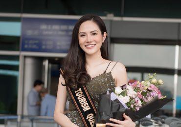 Diệu Linh là thí sinh đầu tiên đến đấu trường nhan sắc 'Miss Tourism Queen International 2018'