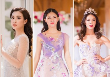 Hoa hậu Mỹ Linh và Á hậu Thanh Tú đọ catwalk với Miss Universe 2007