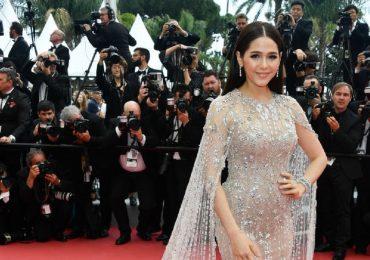 Biểu tượng gợi cảm Thái Lan được nâng váy trên thảm đỏ Cannes