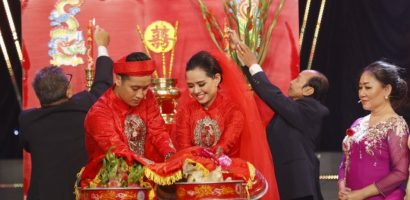 Hiền Trang và Thái Huy bất ngờ tổ chức đám cưới trên sân khấu 'Gia đình nghệ thuật'