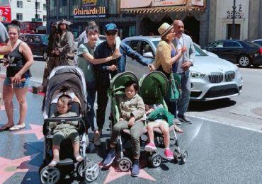 Gia đình Lý Hải – Minh Hà khám phá 'Đại lộ danh vọng' ở Hollywood