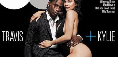 Kylie Jenner tạo dáng nóng bỏng bên bạn trai rapper trên tạp chí